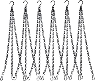 Skyoo 6 Pack Hanging Chain Flower Pot Basket Replacement Chain Hanger for Bird Feeders, Planters, Lanterns and Ornaments, 24 inch