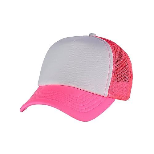 48a90682 NYFASHION101 Blank Mesh Adjustable Snapback Cotton 6-Panel Trucker Hat Cap
