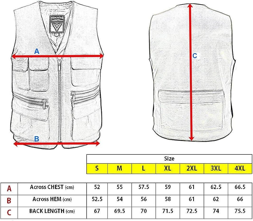 Jagd PELLOR Anglerweste f/ür M/änner und Frauen gr/ö/ßenverstellbar Jacke ohne /Ärmel f/ür Fotografen mehrere Taschen