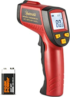 Best AstroAI Digital Laser Infrared Thermometer, 550 Non-contact Temperature Gun -58℉~1022℉ (-50℃~550℃) for Cooking Gadgets, Barbecuing, and Other Indoor Outdoor Activities Red Review