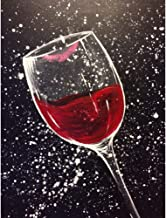 Diamond Painting Kits for Adults 5D DIY Full Drill Crystal Rhinestone Embroidery Arts Craft Wall Decor Red Wine Glass 11.8x15.7in 1 by Loxfir