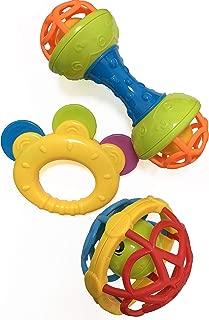 Salamandra Kids Interactive Baby Rattles & Teethers 3pcs...