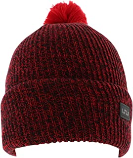 Unisex Cuff Pom Lebron Patch Red Beanie Hat OS
