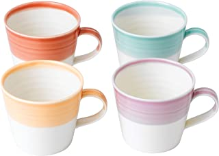 Royal Doulton 1815 40022978 Small Mugs 0.28ltr Mixed Set of 4, Porcelain