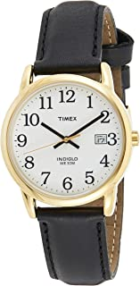 Timex Easy Reader 35mm Leather Strap Watch For Men