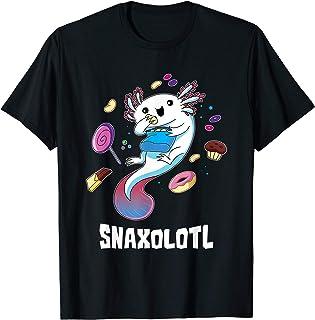 Snaxolotl T-Shirt Funny Kawaii Axolotl Shirt Food Lover Gift T-Shirt