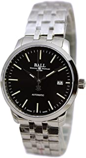 Ball Mens Legend Stainless Steel Case Black Dial Automatic Movement Watch