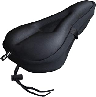 Zacro Gel Bike Seat Cover- Extra Soft Gel Bicycle Seat - Bike Saddle Cushion with Water&Dust Resistant Cover