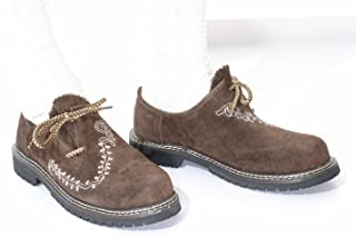 Lederhosen Shoes, Haferl Shoes, Trachten Shoes in dark brown w/embroidery