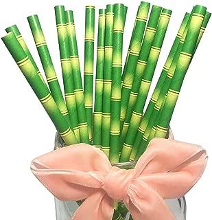 Natural Green Bamboo Drinking Paper Straws 100% Biodegradable, Eco-friendly Bambus Straws