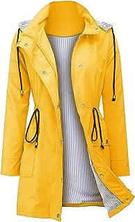 Arthas Women's Lightweight Rain Jacket Waterproof Raincoat with Hood Trench Coat