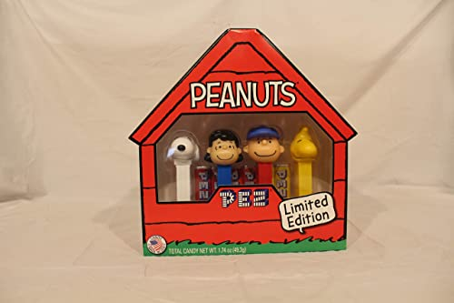 PEZ Peanuts Candy Geschenkset (Snoopy, Woodstock, Charlie braun & Lucy)