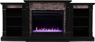 Southern Enterprises Gallatin Fireplace, Black