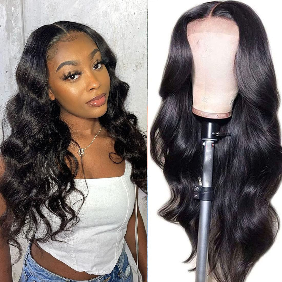 Body Wave Lace Front Discount mail order Wigs Human Black Be super welcome Hair 4x4 for Cl Women