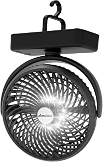 10000mAh Battery Operated Camping Fan with LED Light-7...