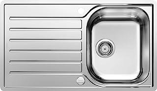BLANCO LANTOS 45 S-IF Salto - Küchenspüle für 45 cm breite Unterschränke für die Küche - Mit IF-Flachrand und Ablauffernbedienung - Edelstahl-Bürstfinish - 519707