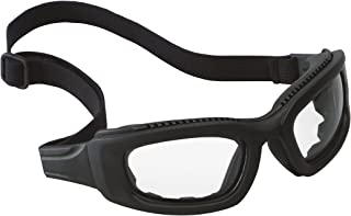 3M Maxim 2x2 Safety Goggles 40686-00000-10 Clear Anti-Fog Lens, Black Frame, Elastic Strap