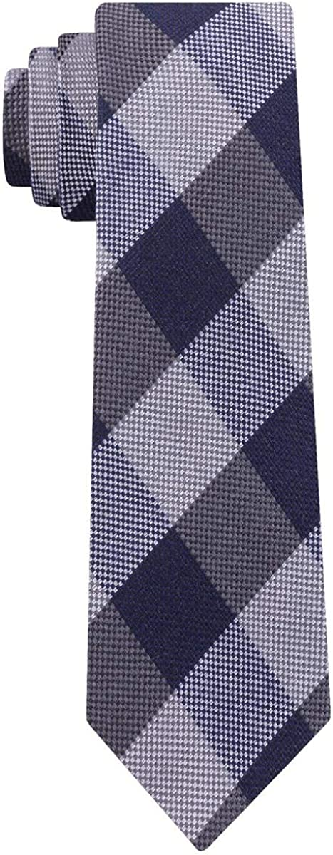 Tommy Hilfiger Mens Wool Blend Check Print Neck Tie Blue O/S at  Men's Clothing store