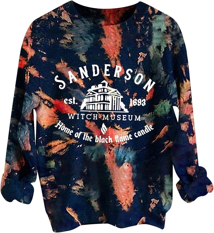Halloween Shirts for Women 2021 Skull Vintage Womens Limited price sale Sweatshirts