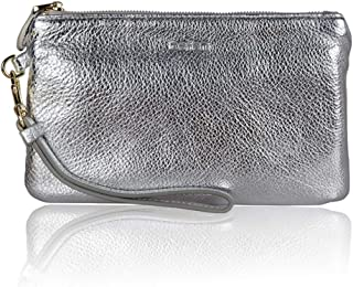 Befen Women's Leather Wristlet Clutch Wallet, Smartphone Wristlet Purse Signature Wallet