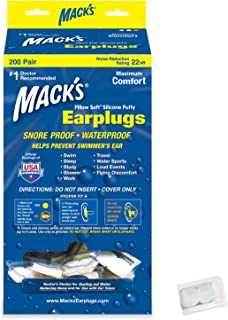 Mack's Pillow Soft Silicone Earplugs - 200 Pair Dispenser - The Original Moldable Silicone Putty Ear Plugs for Sleeping, Snoring, Swimming, Travel, Concerts and Studying
