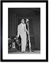 Vintage Photograph Music Louis Armstrong Jazz Legend Black Framed Art Print B12X3759