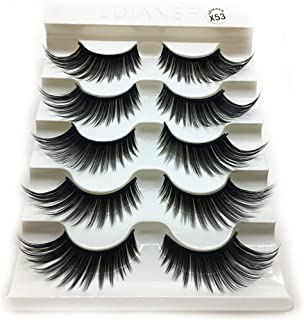 1 Box Luxury 3D False Lashes Fluffy Strip Eyelashes Long Natural Party,Very Natural Soft and Comfortable (Black)