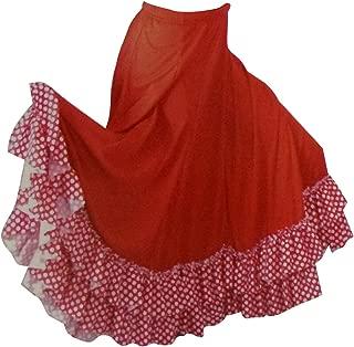 Basic Moves Little Girls Polka Dot Double Ruffle Flamenco Polyester Skirt