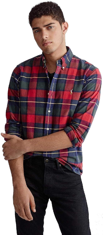 Camisa Ralph Lauren SL BD Sport Cuadros Rojo/Multi Hombre S ...
