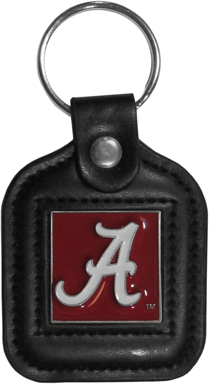 Siskiyou Sports NCAA Unisex Square Leather Key Chain