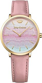 Juicy Couture La Ultra Slim Women's Multi Color Dial Leather Band Watch - 1901583