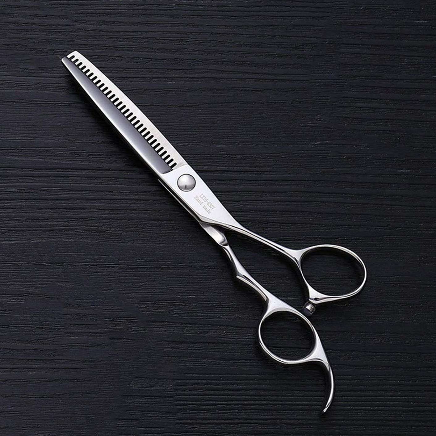 シビック電話政治家6インチの美容院のステンレス鋼の専門のバリカン、30本の歯の魚の骨は専門の薄いせん断を切りました モデリングツール (色 : Silver)