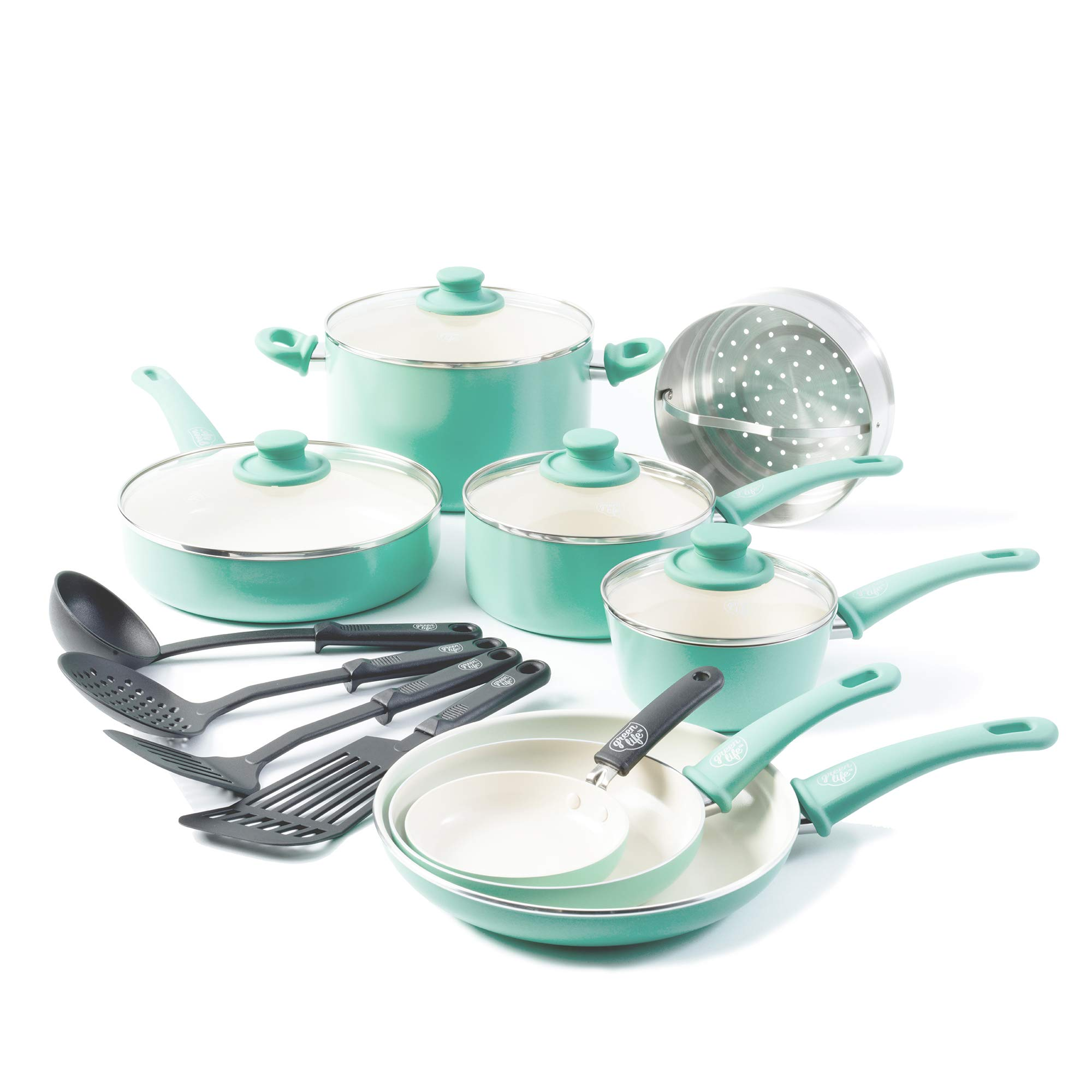 GreenLife Ceramic Non Stick Cookware Turquoise