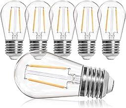 OxyLED S14 vervangende lampen LED Retro, IP65 waterdicht, 6X2W LED-lampen E27 warm witte 2500K lampen