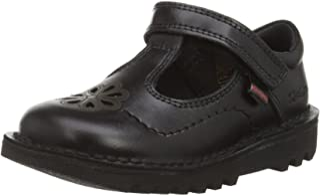 Kickers Bar Fluter Black Leather, Chaussures d'école. Fille
