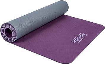 Kounga Yogamat ProLight 5 yogamat, uniseks, volwassenen, paars/grijs, 183 x 61 cm