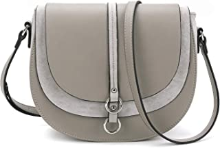 Women Crossbody Bag Saddle Shoulder Bag Small Satchel Purse and Tote Handbag