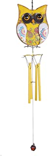laddawan Rustic Relaxing Tranquil Wind Chimes Outdoor and Indoor Owl Wind Chime, Metal 26