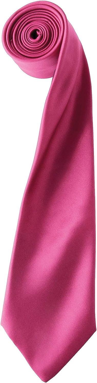 Premier Tie - Corbata Lisa satinada estrecha Hombre Caballero - Trabajo (40 colores)