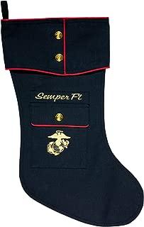 U.S. Marine Dress Blue Christmas Stocking
