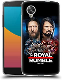 Official WWE Daniel Bryan and AJ Styles 2019 Royal Rumble Soft Gel Case Compatible for LG Nexus 5