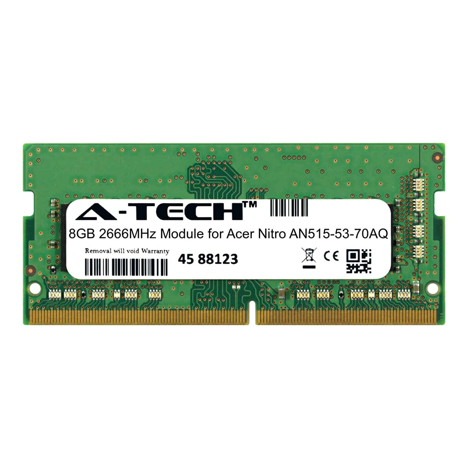 A-Tech 8GB Module for Acer Nitro AN515-53-70AQ Laptop & Notebook Compatible DDR4 2666Mhz Memory Ram (ATMS279656A25978X1)