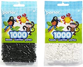Perler Bead Bag, Bundle of Black and White