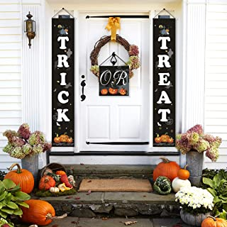Trick or Treat Halloween Banner - QIFU Halloween Decorations for Home Indoor/Outdoor, Ready to Hang