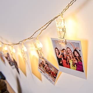 String Lights 16 LED Photo Clips Hanging Pictures,Artworks and Cards,Decoration for Bedroom,Patio and Outdoor,Christmas,birthday,good friend and gifts for children,Battery Powered,15 feet (Warm White)