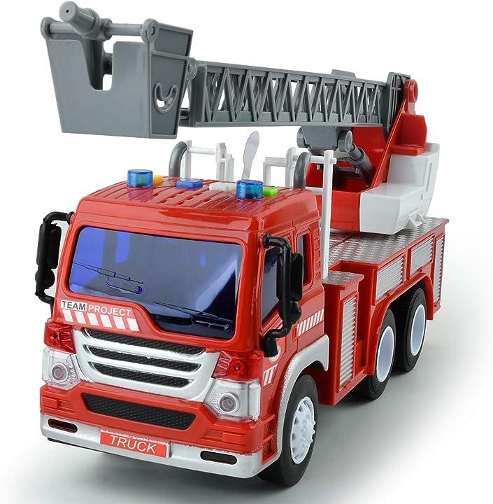 Camion dei pompieri giocattolo con motore antincendio a frizione gizmovine 2 anni B07K2RS3V8