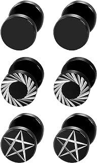9924709f3177 Aroncent Pendientes de Acero Inoxidable Quirúrgico para Oído Agujero  Dumbbells Aretes de Perno Forma de Pesas