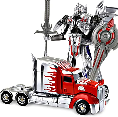 Deformiertes Spielzeugauto, Truck Toy , Hero Rescue Robot - Kindertag, das perfekte Geschenk für Kinder zu Weißnachten