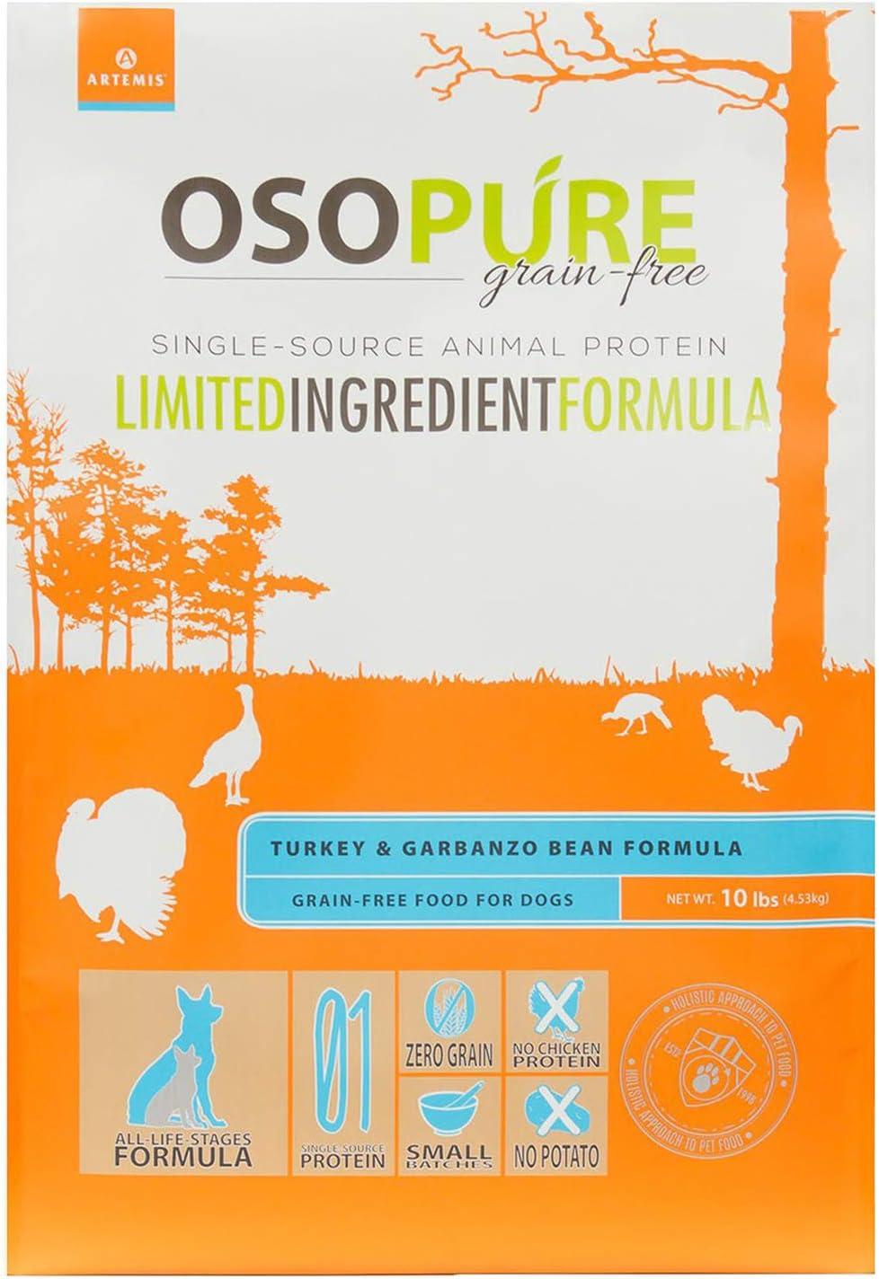 Direct store Sale SALE% OFF Artemis OSOPURE Grain Free Turkey Garbanzo Dog Food Dry Bean