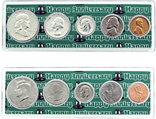 1959-2019 60th Anniversary Year Coin Set in Happy Anniversary Holders Uncirculated